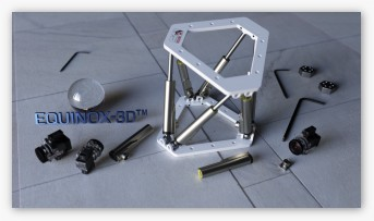 EQUINOX-3D Functional hexapod with mechanical simulation, based on LinMot linear actuators.