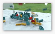 LEGO with rigid-body simulation, depth of field, motion blur and global illumination.